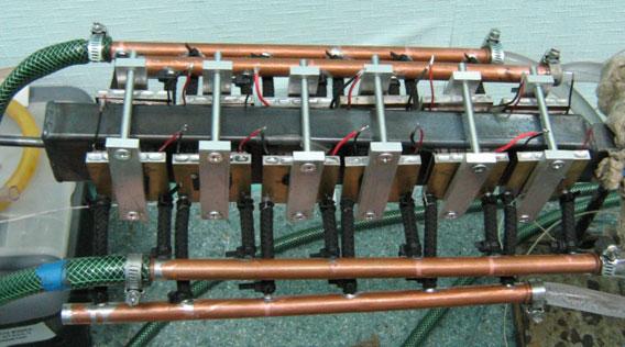 Макет модулю установки утилізації теплоти викидних потоків газів