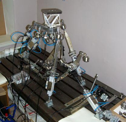 Девятикоординатна система приводів з додатковим шестикоординатним приводом мікропереміщень