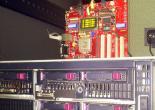 Експериментальний зразок конфігурованого комп'ютера, підключеного до HP Blade server C3000