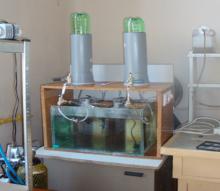 Лабораторна установка для одержання водню та метану
