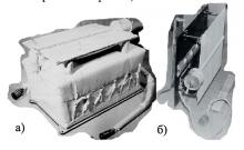 Тепловий макет електронного блоку наукової апаратури: а- блок з системої терморегулювання; б – система терморегулювання на основі теплової труби (окремо)