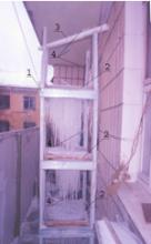 Фото лабораторної установки з декількома ярусами насадок
