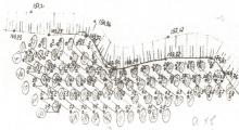 Характерна схема комутації вибуху і значення часу сповільнення свердловинних зарядів ВР з неелектричною системою ініціювання «Імпульс»