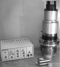 Макет газорозрядної електронної гармати з блоком керування параметрами електронного пучка