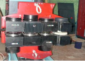 Датчики вимірювальної системи вимірювальної системи технологічного контролю параметрів паперового полотна.