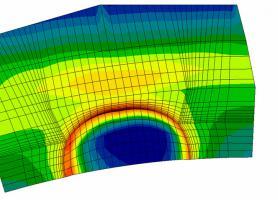 Результати моніторінгу за напруженнями у захисній оболонці АЕС при розриві армоканату та розповсюдженням тріщин в колекторі парогенератора в процесі землетрусу