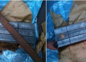 Зовнішній вигляд поверхні пакета труб після застосування тимчасового протикорозійного захисту і не упакованого металу