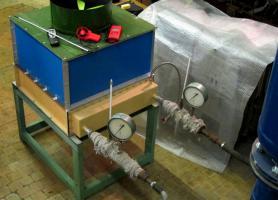 """Зовнішній вигляд діючого лабораторного макету модуля """"сухої"""" градирні"""