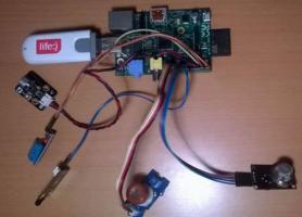 Макет вузла БСМ для дистанційного моніторингу температури та вологості за допомогою сенсорного датчика