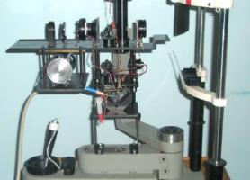 Макет вимірювача абераційної рефракції ока - загальний вигляд установки