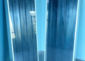 Загальний вигляд діючих макетів сонячних колекторів, виготовлених з профільних алюмінієвих теплових труб