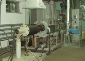 Експериментальна установка для виготовлення спінених термопластів екструзійним методом